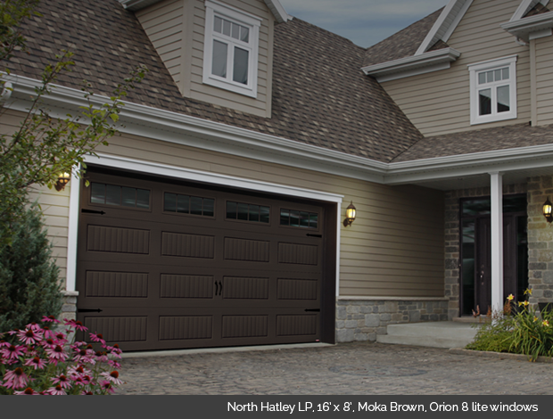 brown garage doors with windows. North Hatley Garaga Garage Door In Moka Brown With Orion 8 Lite Windows Doors K