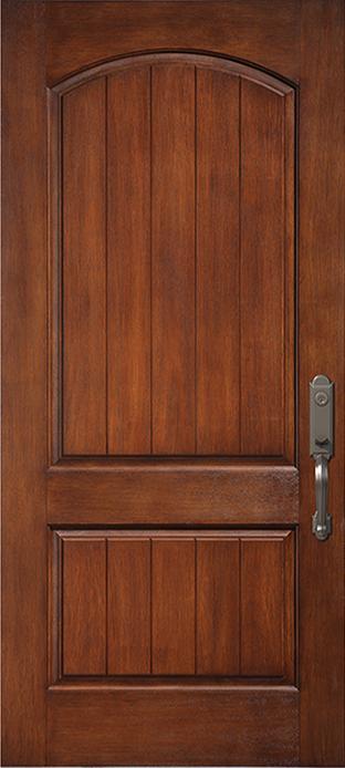 2 panel planked camber top fiberglass doorsmith proud for Scenix porch windows
