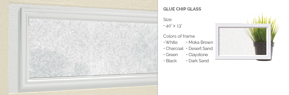 Glue Chip Glass for Garaga garage door windows