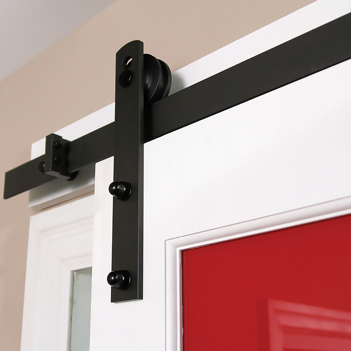 flat products track doors leatherneck barnware hardware clear and mount hangers door barn with barns kit top coat