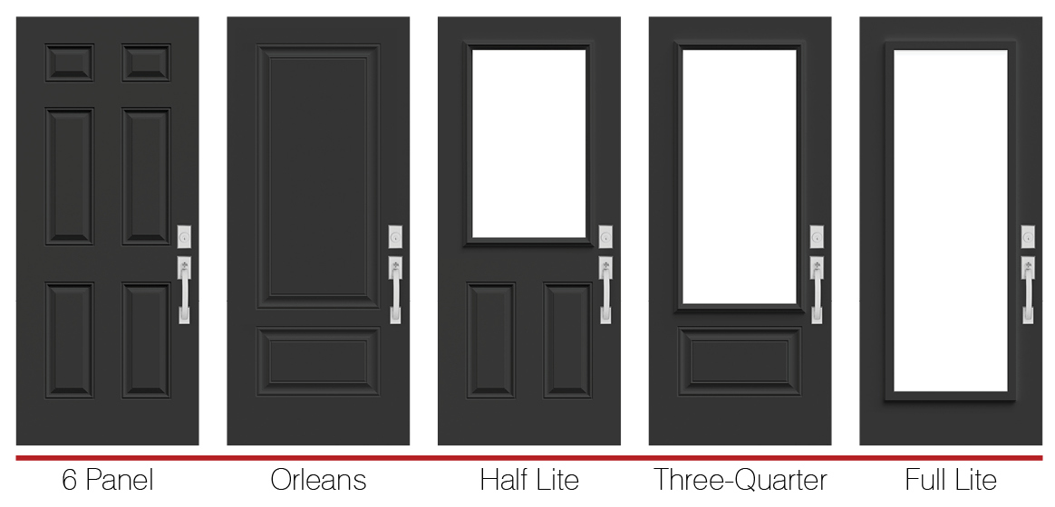 Polytech Prefinished Black Steel Doors - Doorsmith and Novatech
