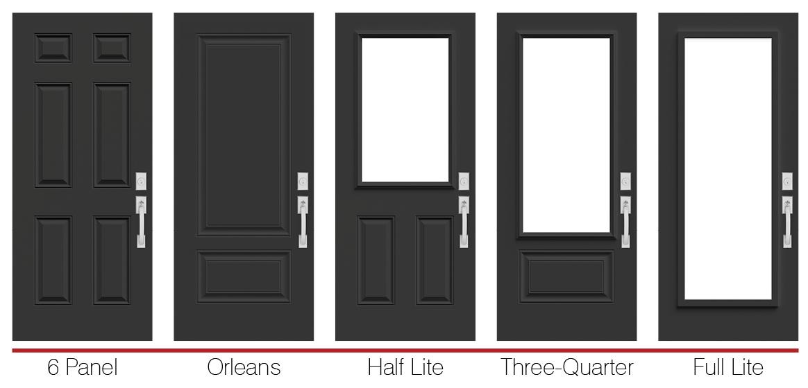 Polytech prefinished black steel doors doorsmith and - Black metal french doors exterior ...